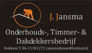Visitekaartje jansmabouw onderhoud